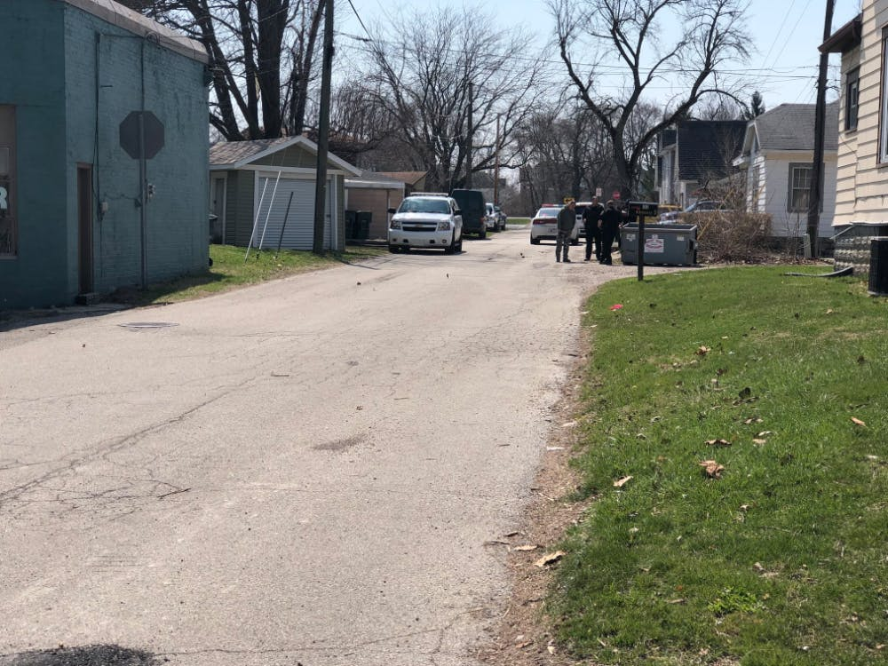 Ball State University Police and Indiana State Police responded to the area of North Reserve and West North streets for reports of a possible meth lab Wednesday, April 11, 2018. Indiana State Police removed the lab. Andrew Smith, DN Photo