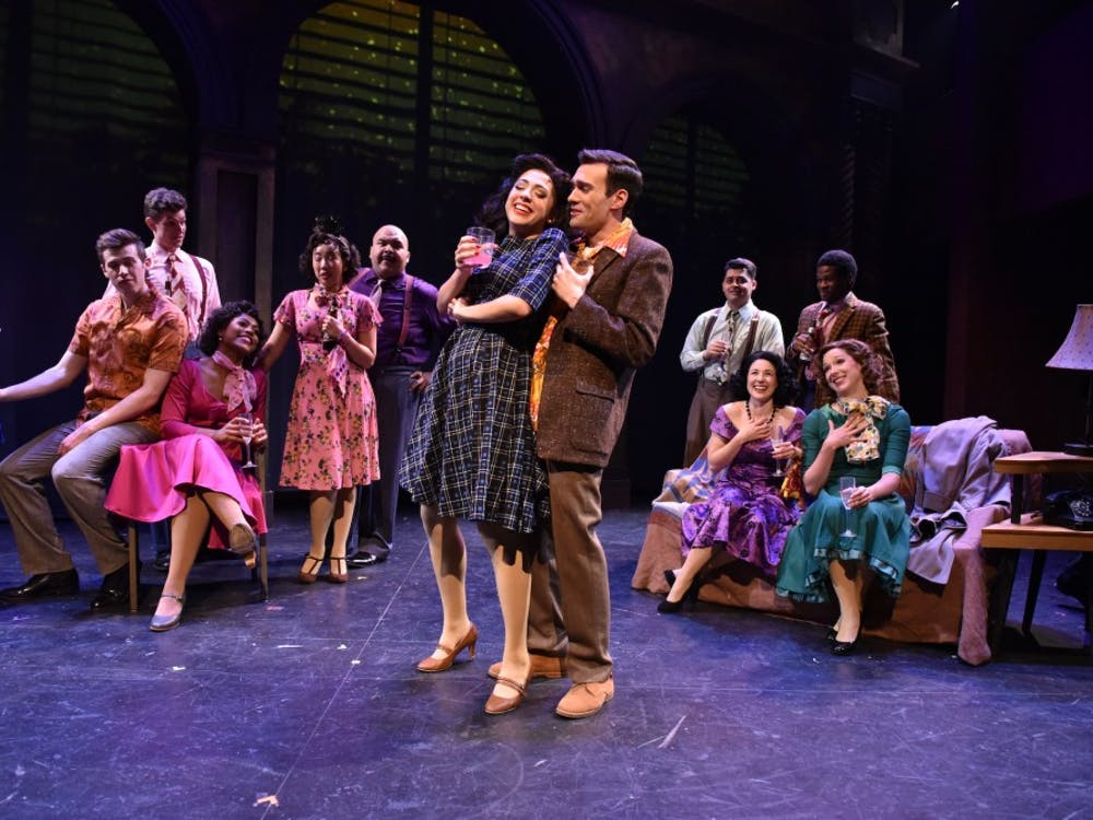 """The cast of """"Sunset Boulevard"""" performs during a preview night for the show. Until Dec. 8, Porchlight Music Theatre will be putting on the musical. Michael Courier, Photo Provided."""
