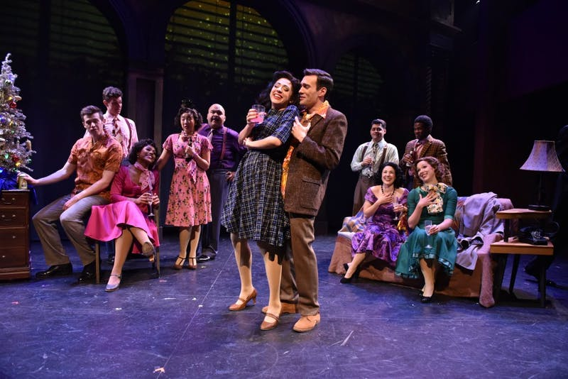 "The cast of ""Sunset Boulevard"" performs during a preview night for the show. Until Dec. 8, Porchlight Music Theatre will be putting on the musical. Michael Courier, Photo Provided."