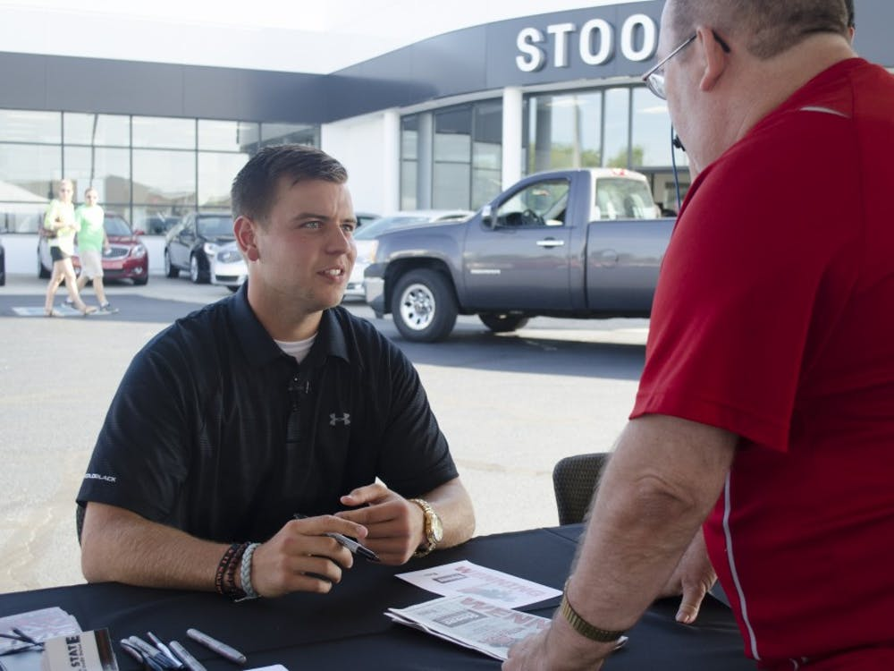 Former Ball State quarterback Keith Wenning signed autographs and took photos with fans onJuly 11 at the meet and greet at Stoops Automotive.