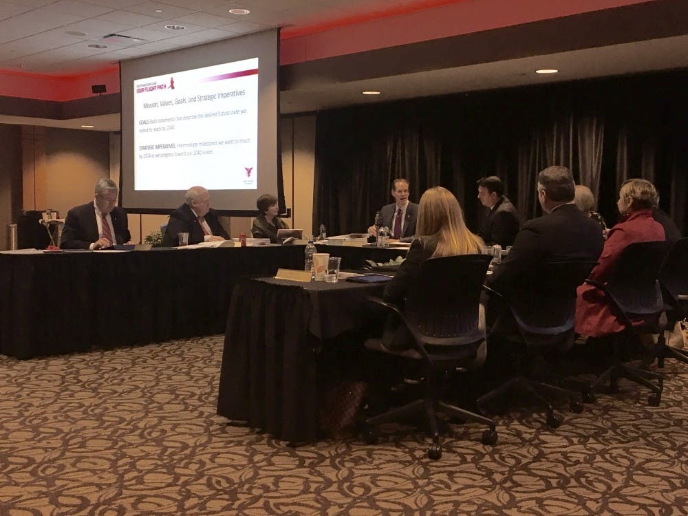 The Board of Trustees met Dec. 14 and approved the revised version of Ball State's strategic plan. Andrew Harp, DN