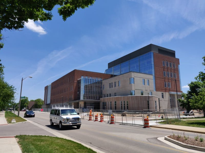 Riverside Avenue will be closed from July 1 to Aug. 9, 2019 due to construction activity next to Ball State's new Health Professions Building. The building itself is scheduled to open fall 2019. Rohith Rao, DN