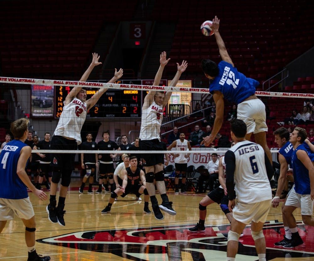 Ball State Men's Volleyball can't complete comeback against UC Santa Barbara