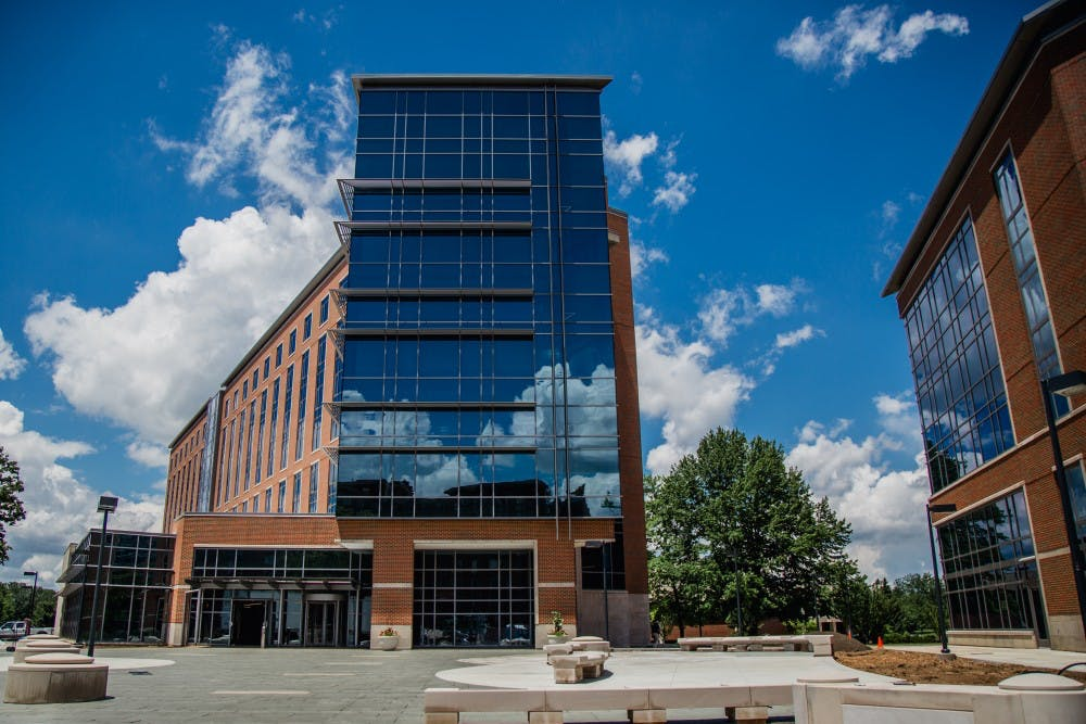 <p>The newly renovated Schmidt/Wilson halls which are part of the Johnson B Complex will be open to students for the 2017-18 academic year. The residence hall will be home to the Theatre and Dance and Design Living Learning Communities. <strong>Reagan Allen, DN</strong></p>