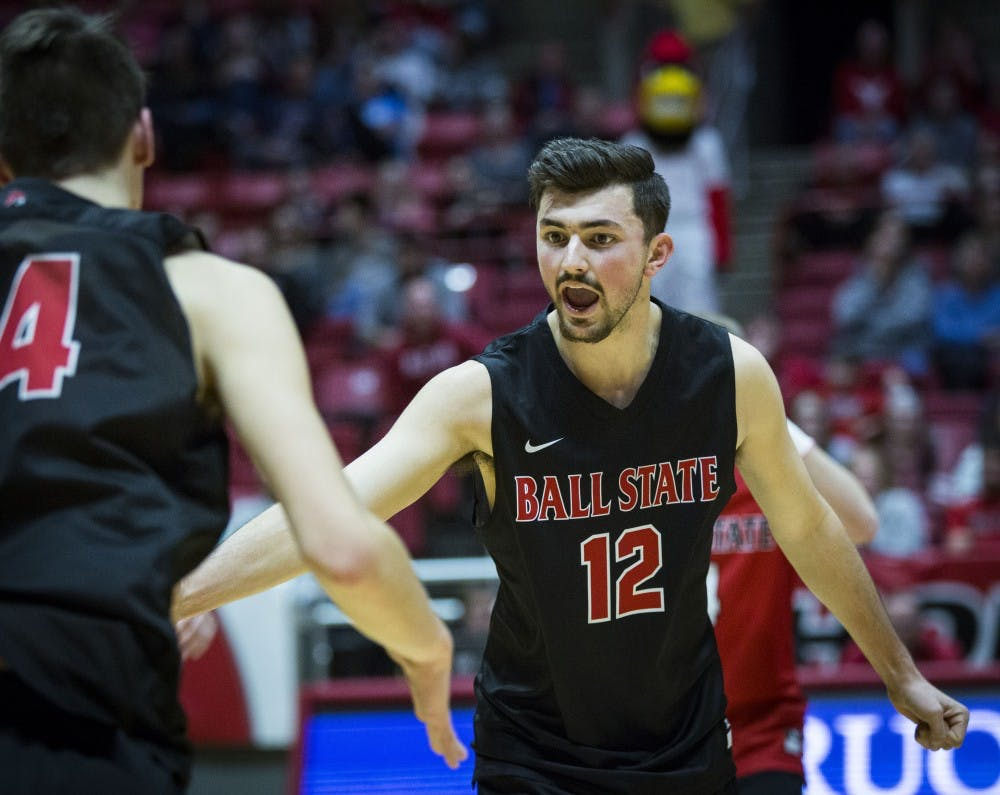 <p>Ball State hosted Harvard Crimson, Saturday, Jan. 20 at John E. Worthen Arena talking the Crimson into four sets. Ball State defeated the Crimson, 25-22, 23-25, 25-21, 25-9. Men's Volleyball will be back to Worthen, on Feb. 16. <strong>Grace Hollars, DN</strong></p>