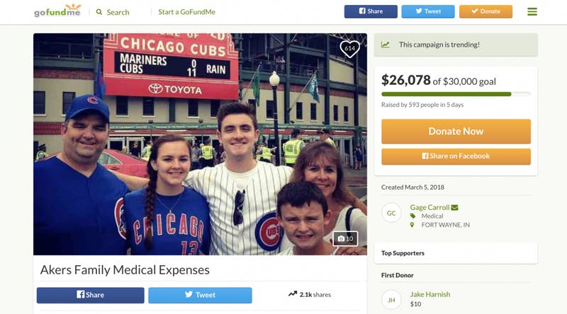 Ball State Theta Chi raising funds for member struck by car in Florida