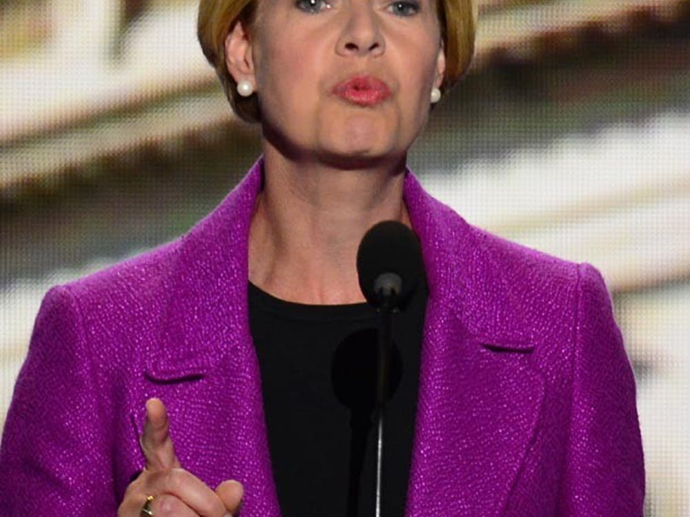 U.S. Rep. and Senate candidate Tammy Baldwin (D-WI) speaks at the 2012 Democratic National Convention in Times Warner Cable Arena Thursday, September 6, 2012 in Charlotte, North Carolina. (Harry E. Walker/MCT)