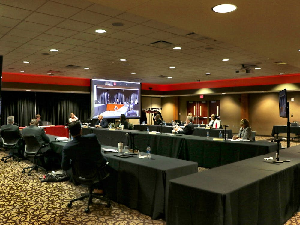 The Ball State Board of Trustees met in the L.A. Pittenger Student Center June 18, 2021. This was the first meeting since the COVID-19 pandemic began where trustees were allowed to meet without masks if they have been fully vaccinated. Grace McCormick, DN