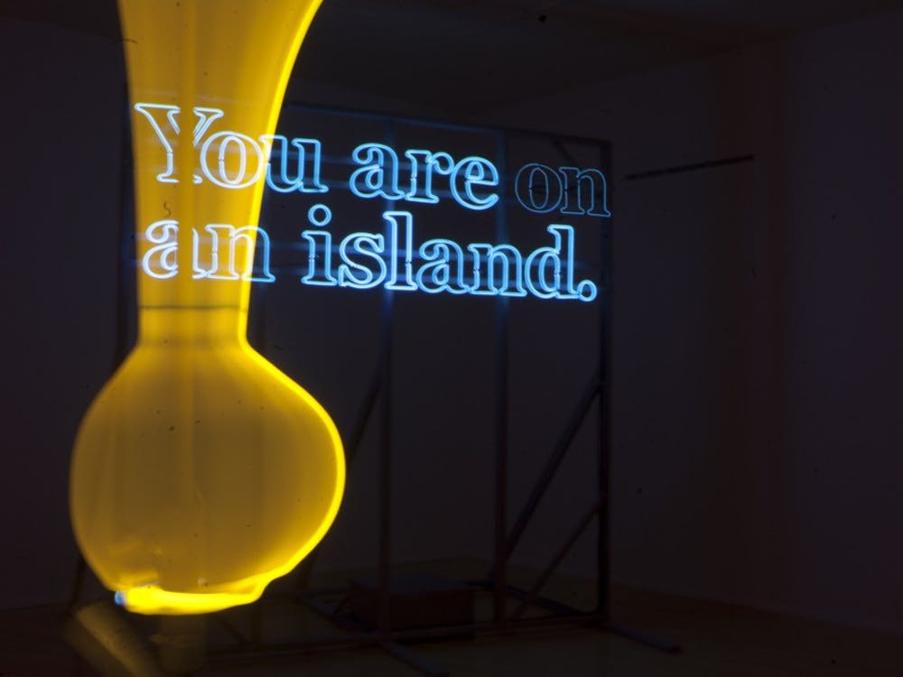 Negotiating Distance: A Neon Invitational opened on Sept. 23in the AtriumGallery. The gallery showcases four internationally known artists: Fred Tschida, Alicia Eggert, Hiromi Takizawa and Sarah Blood.