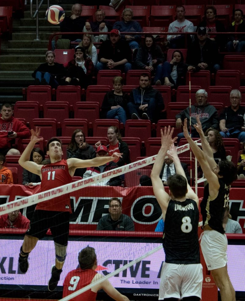 No. 12 Ball State Men's Volleyball drops fourth straight MIVA match to No. 15 Purdue Fort Wayne