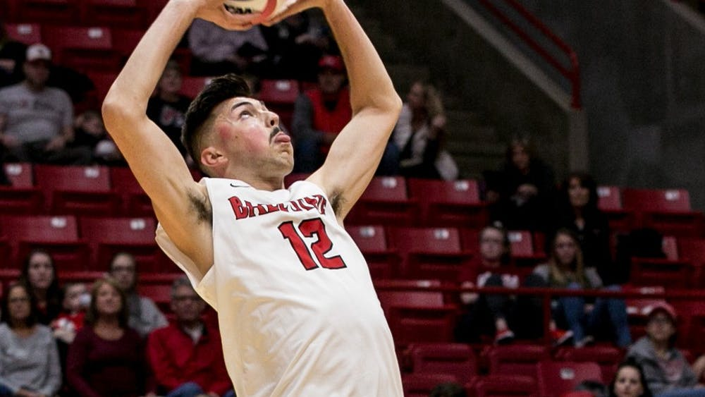 Ball State's mens volleyball team competed against McKendree April 6 in John E. Worthen Arena. The Cardinals won 3-0.