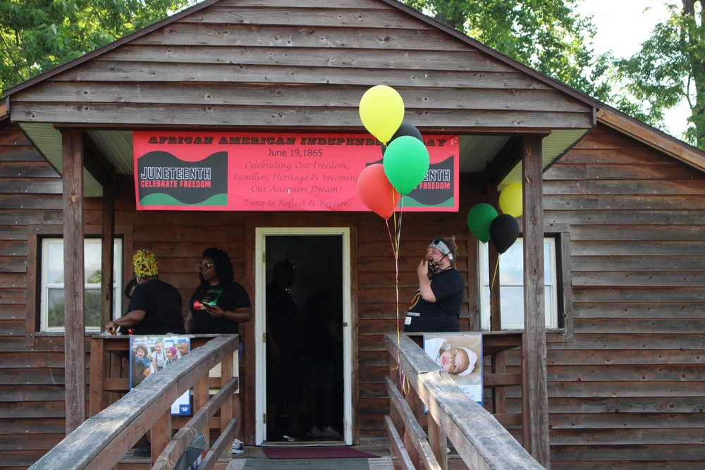 <p>Muncie community members gather for the Juneteenth celebration June 19, 2020, at Heekin Park. People of all ages came together in honor of the holiday, which celebrates the emancipation of slaves in America. <strong>Jenna Gorsage, DN</strong></p>