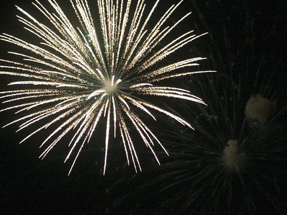 Fireworks explode over Morrow
