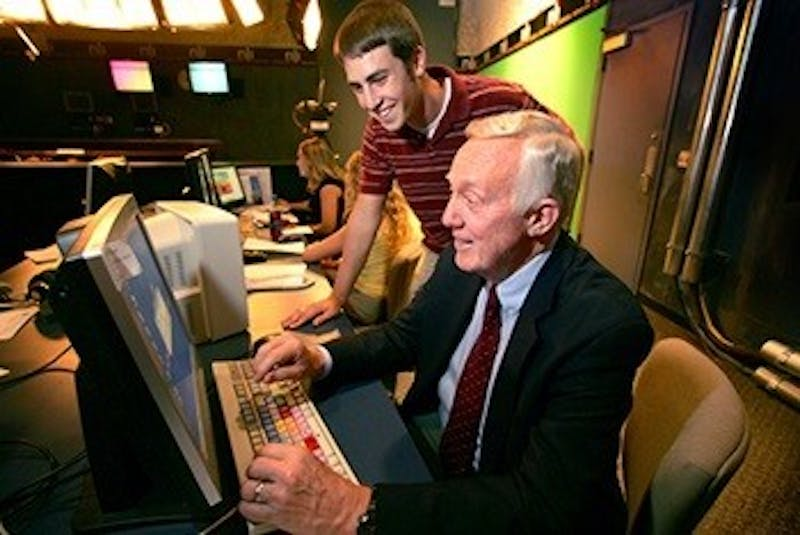 Steve Bell, former telecommunications chair and ABC news anchor, died at 83 years old. Bell covered various events during his career as a journalist including the Vietnam War. Ball State University, Photo Courtesy