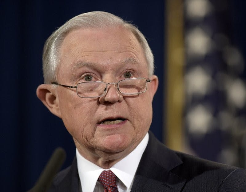 In this Sept. 5, 2017 file photo, Attorney General Jeff Sessions makes a statement at the Justice Department in Washington. AP Photo/Susan Walsh, Photo Courtesy