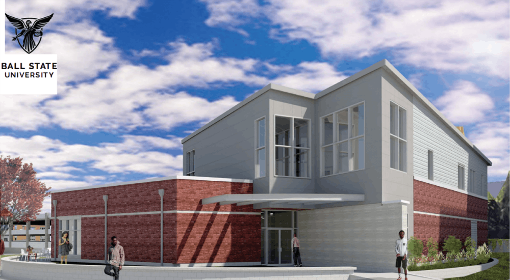 The design for the new Multicultural Center was unveiled at Ball State's Board of Trustees meeting June 12, 2019, at the Ball Brothers Hospitality Room in Emens Auditorium. The building will be ready by fall 2020. Marc Ransford, Photo Provided