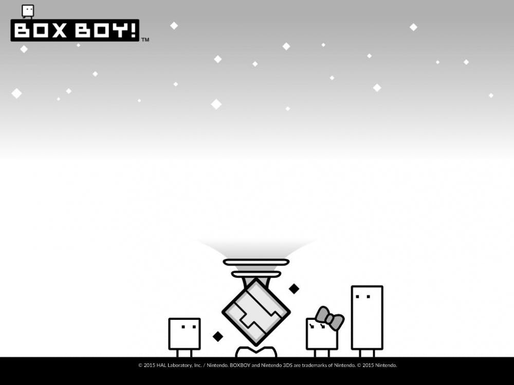 Nintendo's BoxBoy requires players to create boxes to help Qbby navigate more than 20 worlds. After completing the worlds, players can solve different puzzle challenges. PHOTOS COURTESY OF NINTENDO OF AMERICA