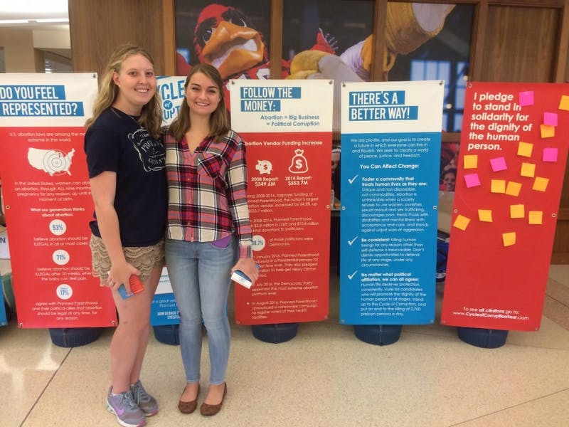 Pro-life display takes to Campus Green