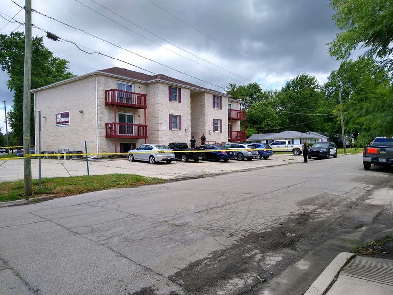 Muncie Police Department officers investigate reports of shots fired near a Rosewood Avenue apartment complex June 23, 2020. A campus-wide email was sent out around noon informing students of the possible shots fired. Charles Melton, DN
