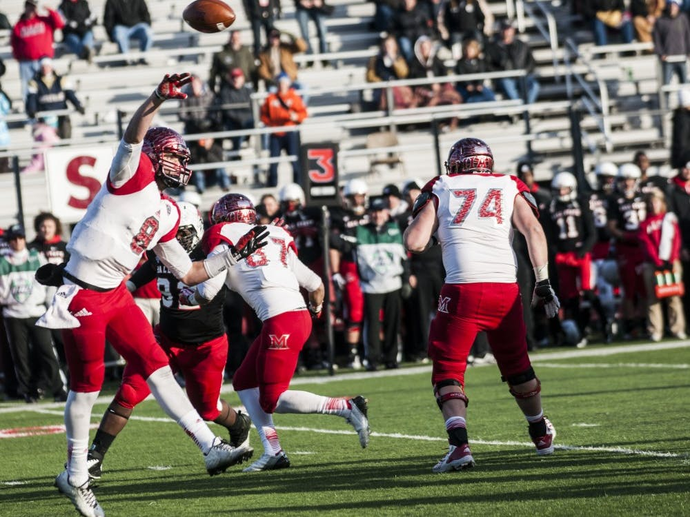 Ball State took on Miami Nov. 29 at Scheumann Stadium and won 55-14.