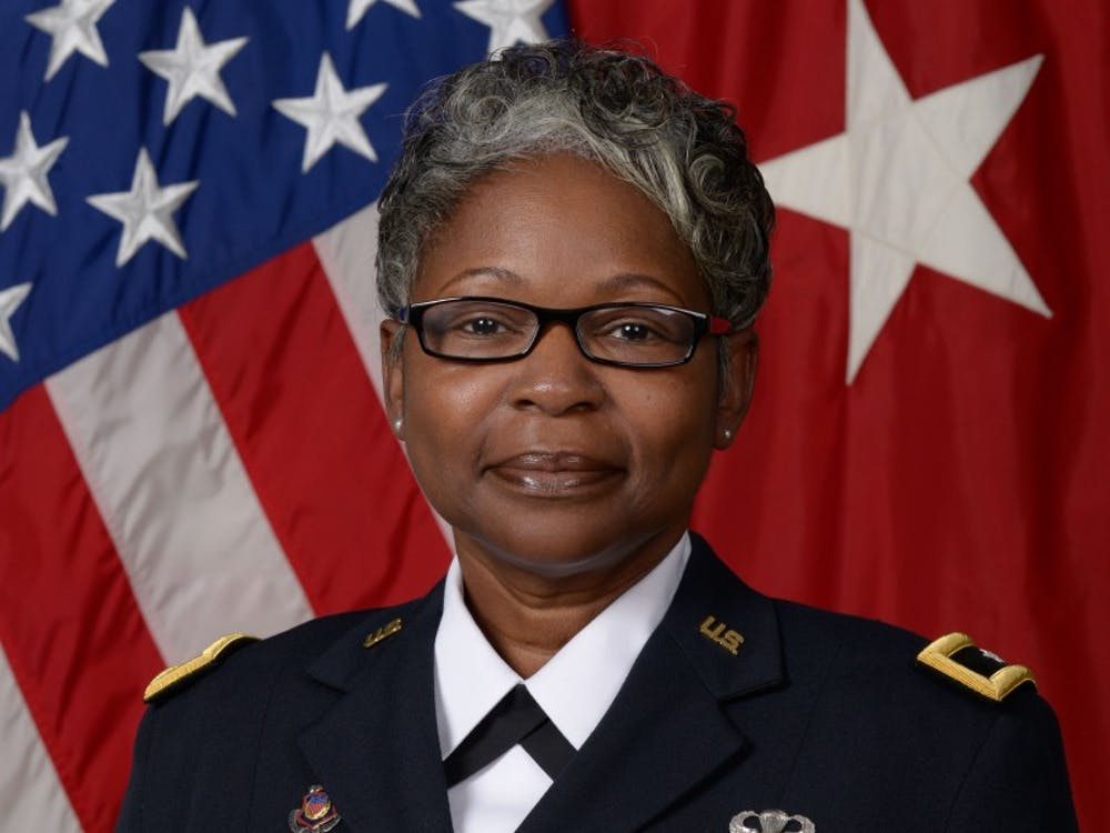 Brig. Gen. Young stands in her Class A uniform for the U.S. Army. Young is one of few female brigadier generals currently serving. Capt. Kory Garbelman, Photo Provided.