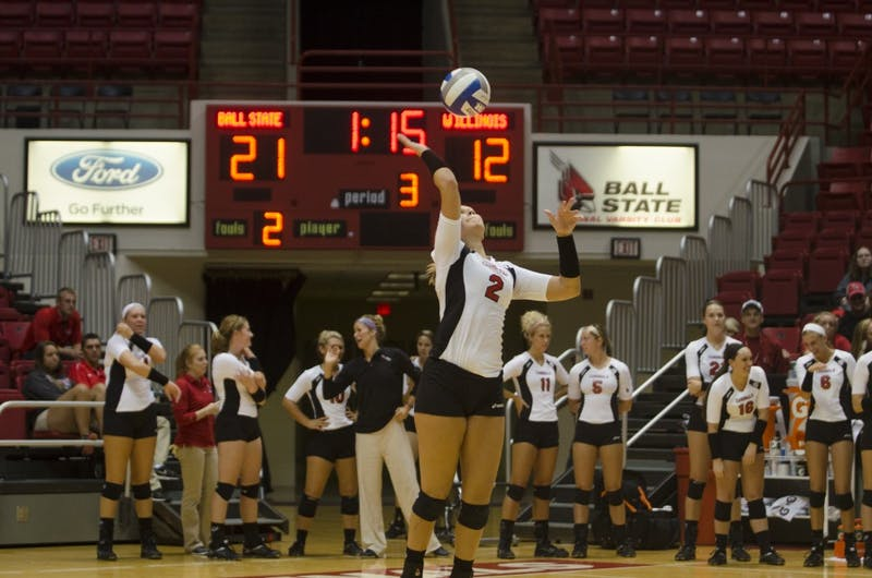 WOMEN'S VOLLEYBALL: Ball State falls 3-1 to Ohio