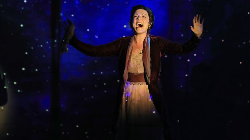 """Actress Josephine Cooper performs the song """"All That Matters"""" as her character, Sylvia Llewelyn Davies, during the Broadway Musical """"Finding Neverland."""" The company will continue its national tour until its last performance April 12, 2020. Denise Trupe, Photo Provided"""