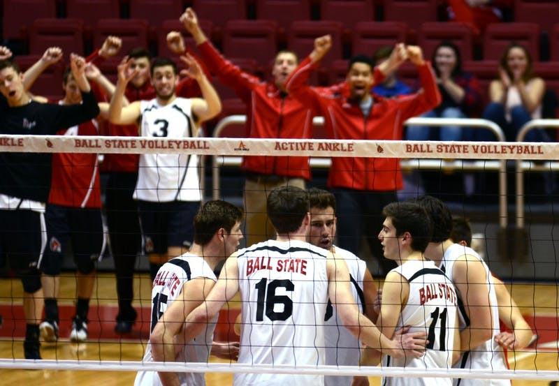 Ball State men's volleyball knocks off No. 8 Loyola 3-1
