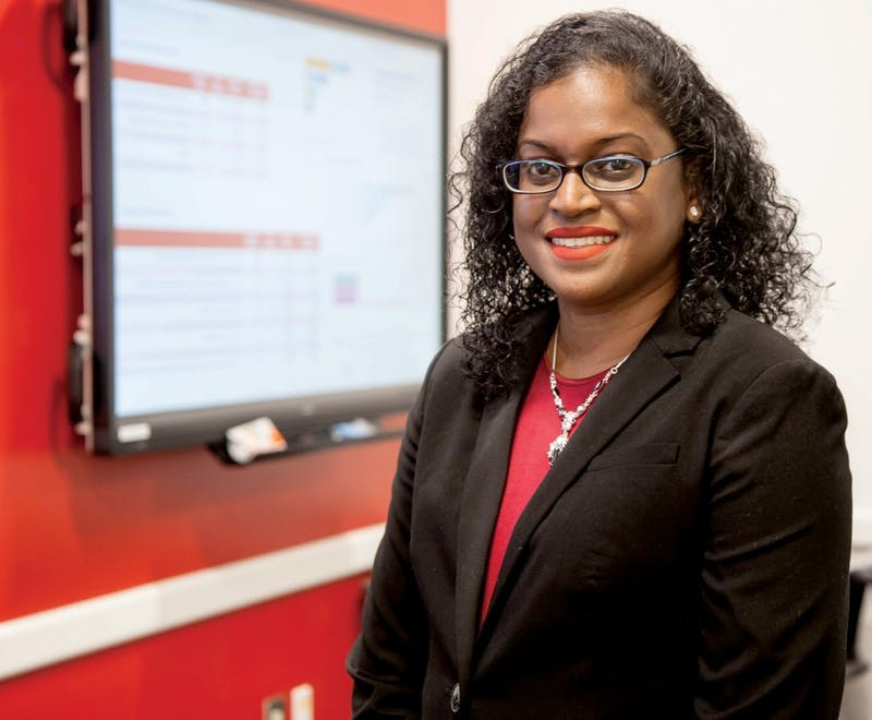 Social media marketing professor Kesha Coker was recently granted U.S. citizenship after more than a year of waiting. She is originally from Trinidad and Tobago. Kaiti Sullivan, DN