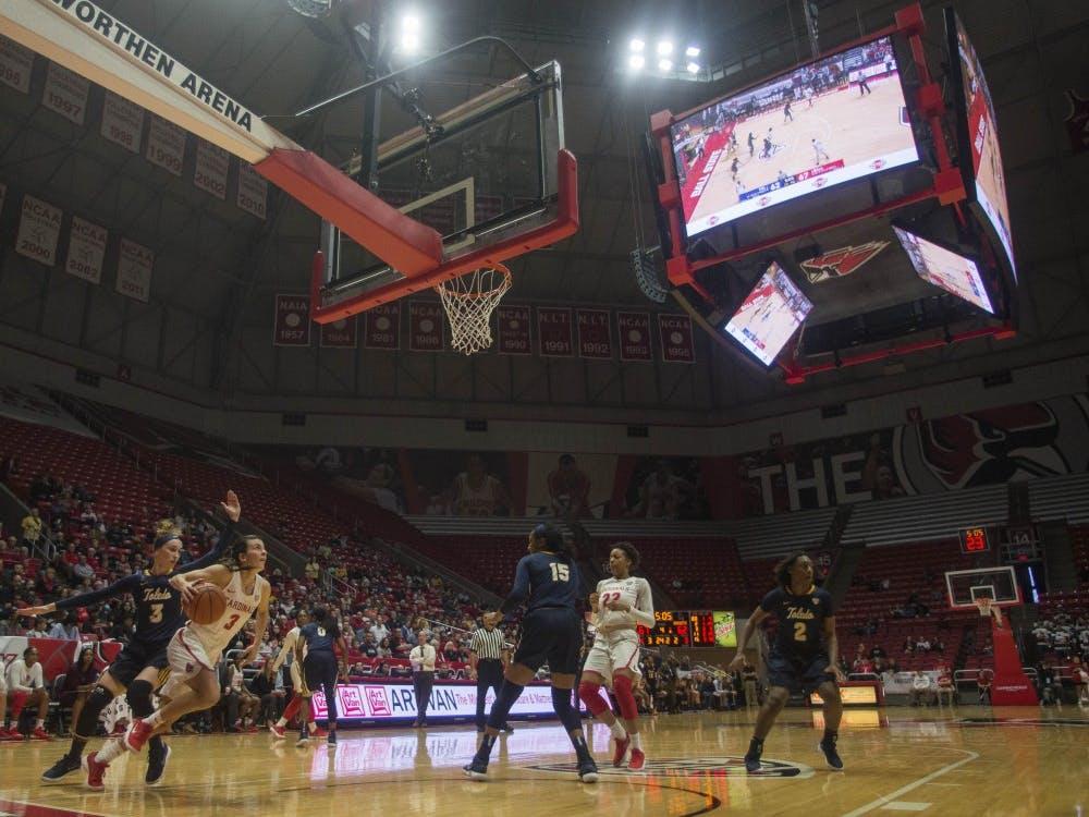 Ball State women's basketball faced Toledo Feb. 24 in John E. Worthen Arena. The Cardinals won 78-73.