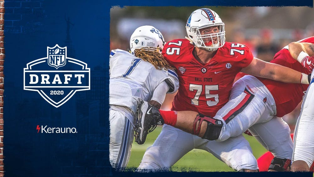 Former Ball State offensive guard Danny Pinter will not have far to travel as he begins his journey in the NFL.