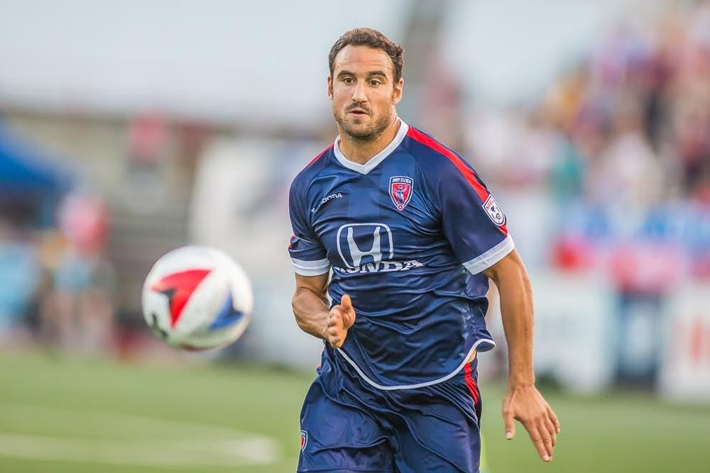 <p>Indy Eleven forward Eamon Zayed will be a volunteer assistant with Ball State soccer.&nbsp;<em>Trevor Ruszkowski // Photo Provided</em></p>