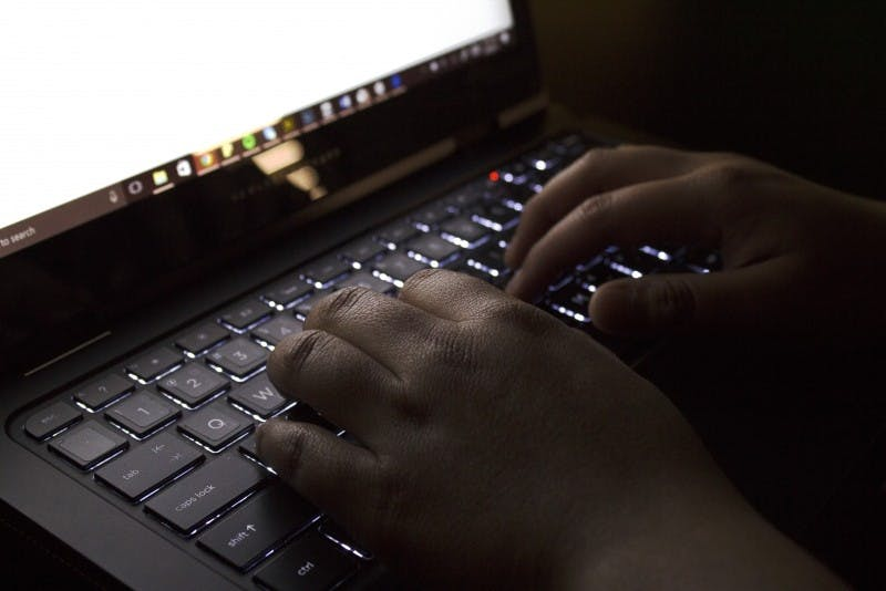 Ball State has more than 36,000 stolen or fake emails listed and is the 69th most common email domain on the dark web, according to the Digital Citizens Alliance's 2017 study.  Grace Ramey // DN Photo Illustration