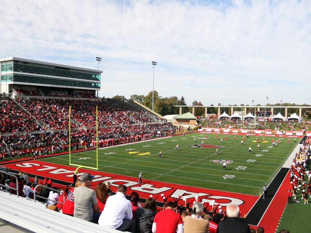 Ball State plays Toledo on homecoming Saturday, Oct. 19, 2019, at Scheumann Stadium. The Cardinals won 52-14. Paige Grider, DN