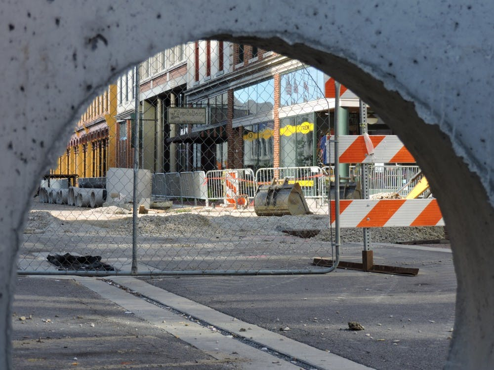 Small businesses in downtown Muncie are hurting from all the new construction happening, but according to a city official, the construction will give them millions of dollars in upgrade. Tina Maric // DN