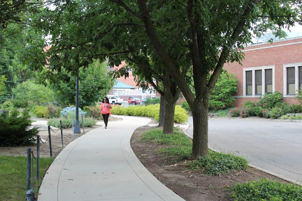 "The Cow Path spans from Riverside Avenue to Petty Road. According to Ball State's website, ""hundreds of students walk the path each day."" Brooke Kemp, DN"