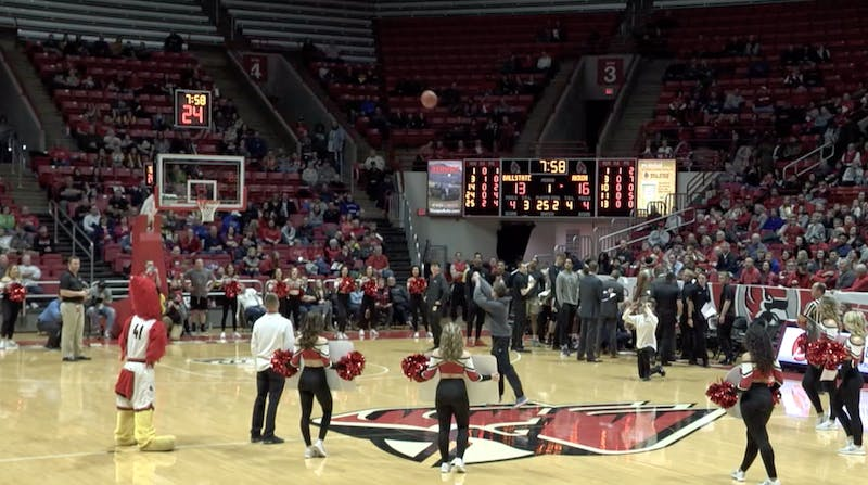 Ball State freshman sinks half-court shot, wins $10,000
