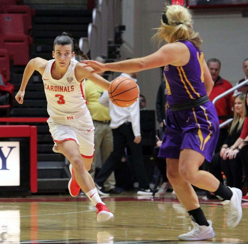 Ball State women's basketball crushes Lipscomb in the paint