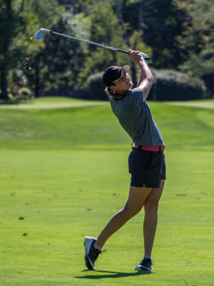 Allison Lindley tied for 29th on the opening day of the Cardinal Classic at the Player's Club on Sept. 19. The Ball State women's golf team played its way into fourth place behind defending champion Eastern Kentucky and Toledo and Western Michigan in a tie for second. Grace Ramey, DN File