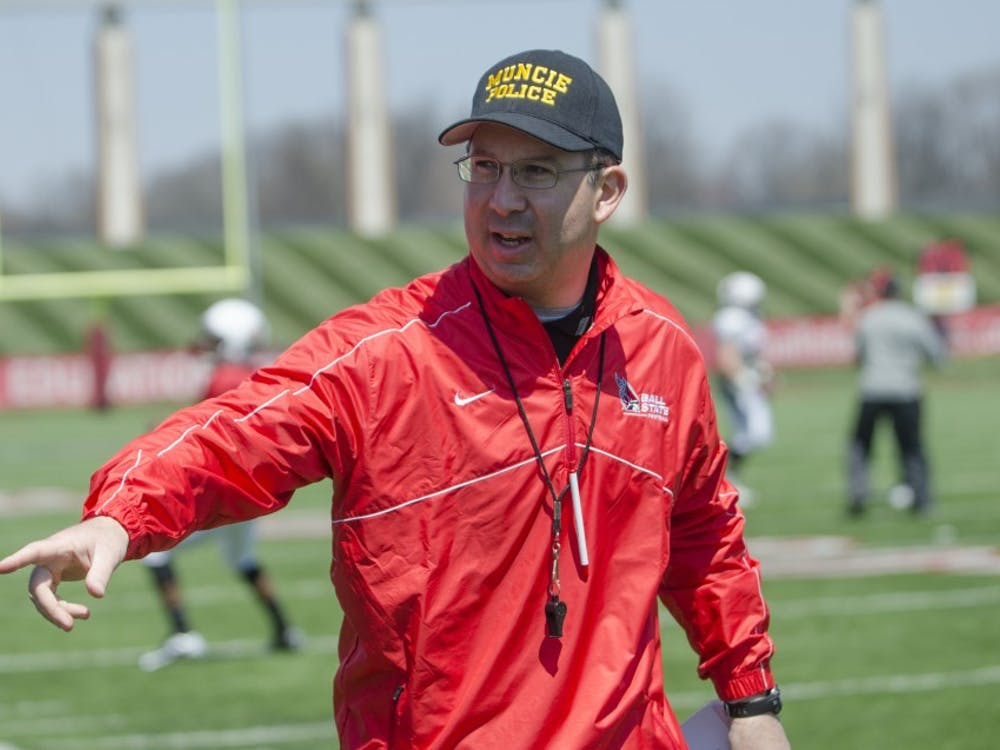 The Ball State football team played its spring football game on April 19 at Scheumann Stadium.