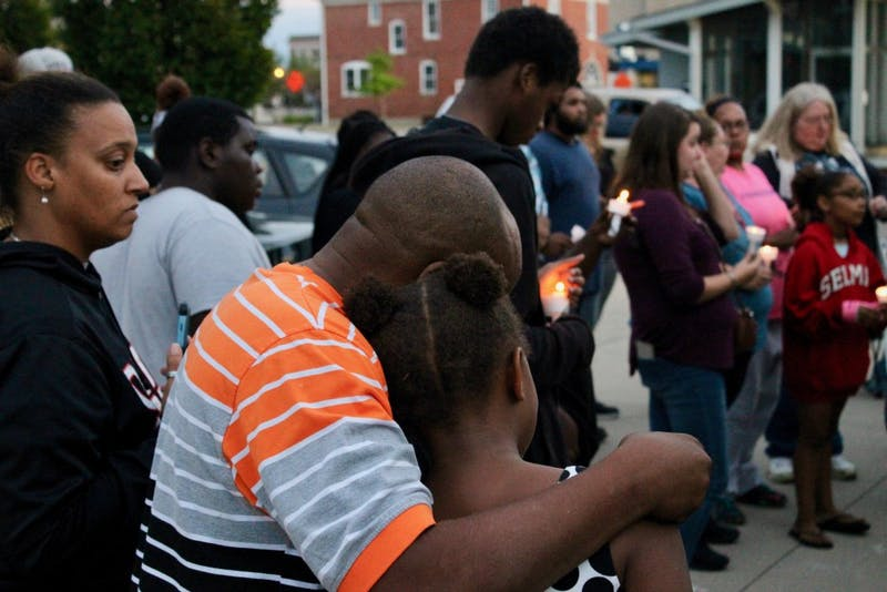 A vigil was held for 17-year-old Allayzia Jackson at Tuppee Tong Thai restaurant Saturday. Jackson was the victim in a shooting Thursday afternoon. Andrew Smith, DN