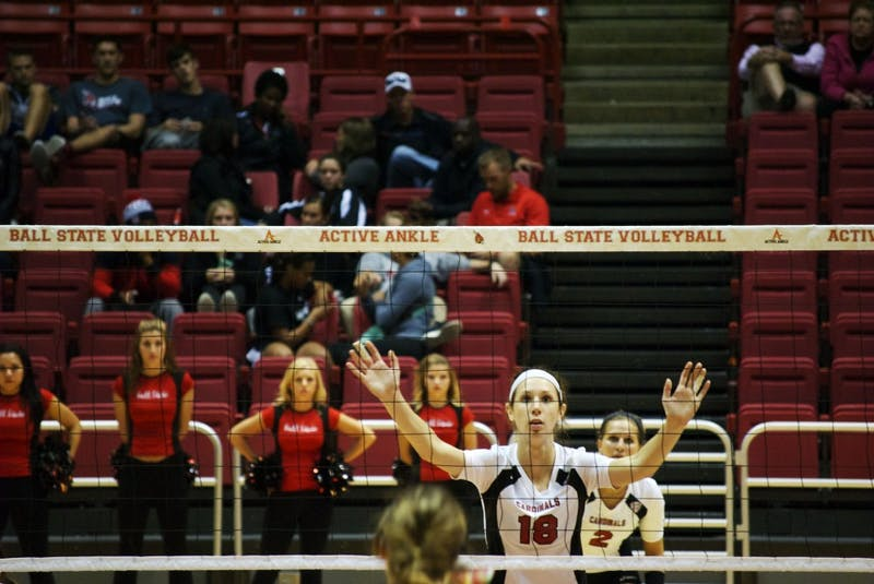 WOMEN'S VOLLEYBALL: Middle play carries Ball State offense