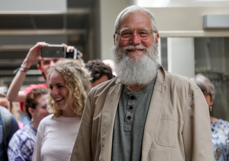 David Letterman visits Ball State, students freak out on social media