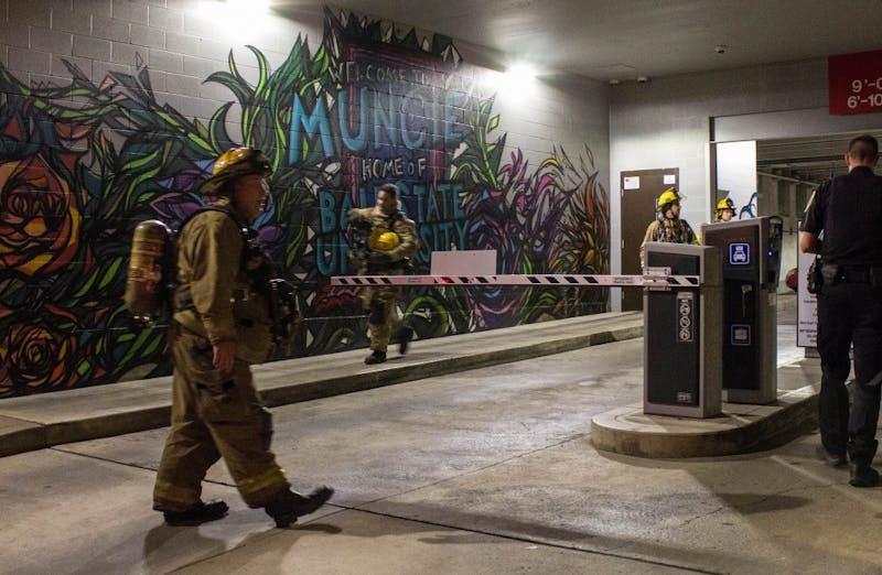 Police, fire department called to Village Promenade parking garage