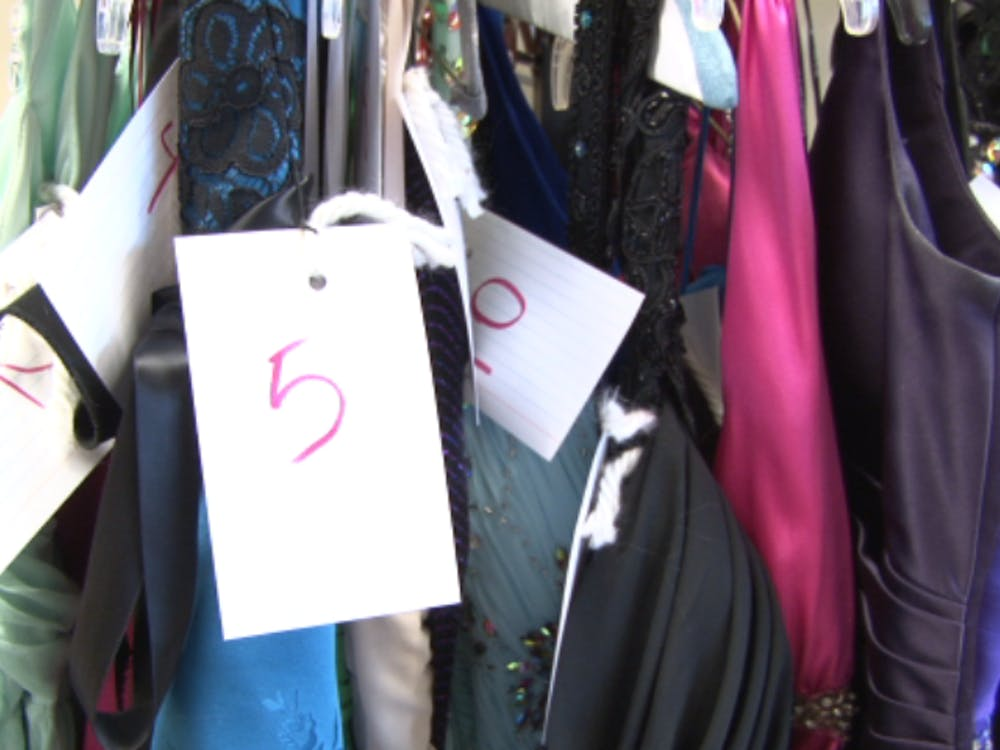 Over 100 dresses have been collected by a group of Ball State Students. On March 22 and 23, the dresses will be donated to Muncie Central students. Camille Breck, DN