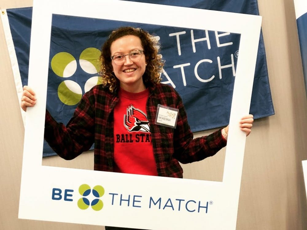 Sophomore McKenna Crews attends a Be The Match event as president of the organization. Crews became involved in Ball State's chapter of Be The Match after she was accepted into her current sorority, Chi Omega. McKenna Crews, Photo Provided.