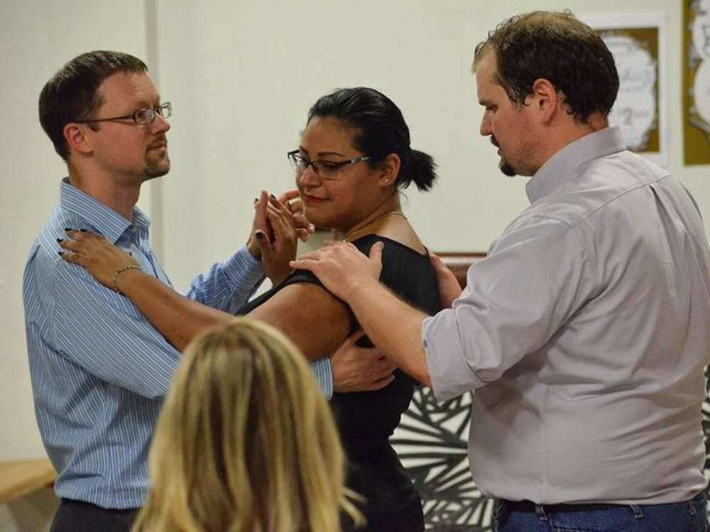 Cornerstone Center for the Arts hosts the Monthly Dance Club every Saturday night. The club, created by Cornerstone's David Fennig, teaches members various styles of dance, including ballroom, tango, swing, salsa, rumba and the hustle.Jessie Fisher // Photo Provided