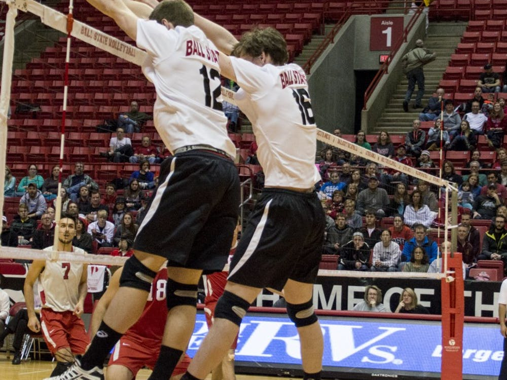 The Ball State men's volleyball team defeated Ohio State 3-0 on Feb. 21 at Worthen Arena. The Cardinals improved their record to 9-5 for the season with the win over the Buckeyes.