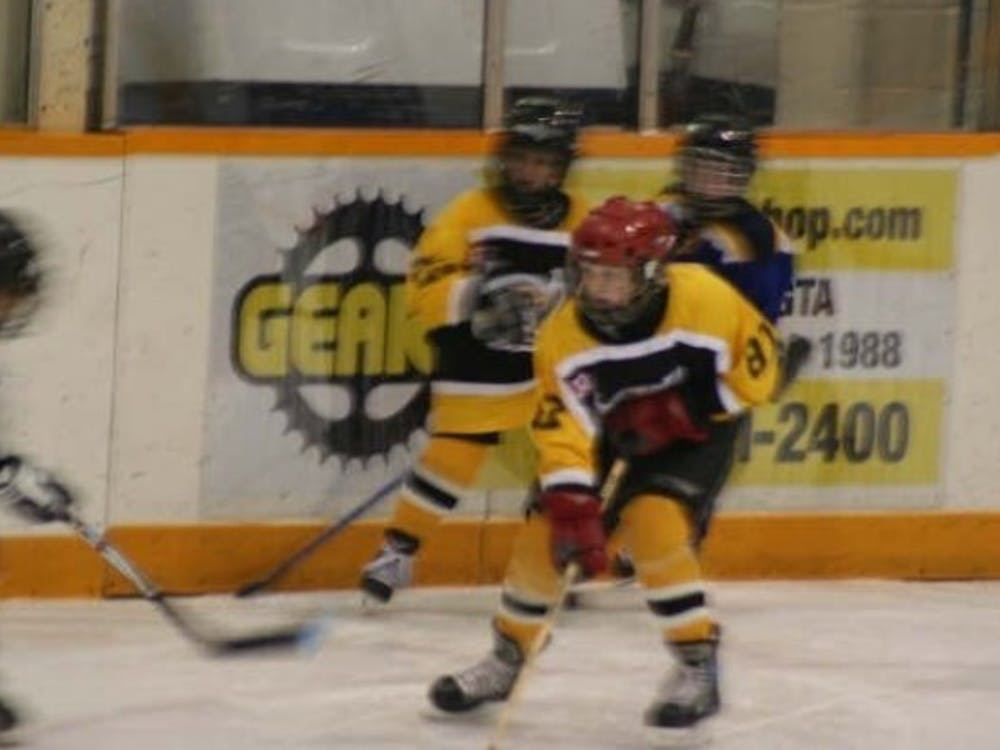 Ben Hendriks plays minor hockey with his team, the Meadowvale Hawks, in Mississauga, Ontario, Canada. Hendriks played ice hockey until he was 12 years old before he decided to purely focus on basketball. Leslie Hendriks, photo provided.