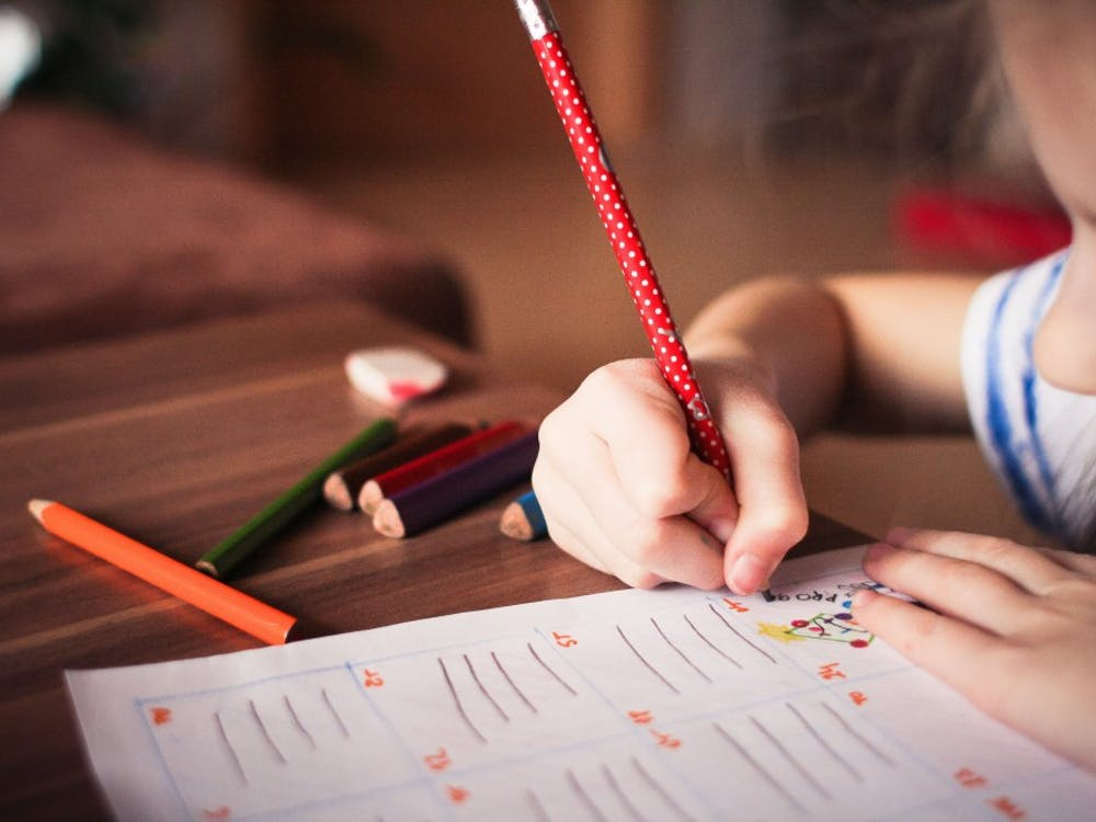 A child works on a school assignment. Positive Behavior Support and Intervention has been used by Muncie schools for over four years. PIXABAY, PHOTO COURTESY